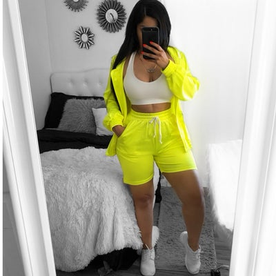 Image of Neon jogger short set