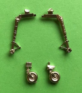 Image of Messerschmitt Bf109 G-6 Brass undercarriage set (Tamiya)