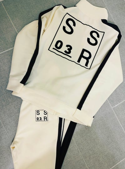 Image of Ivory Black Uniform Tracksuits