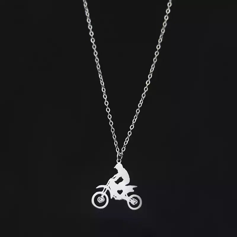 Image of Dirt Bike Chain Necklace