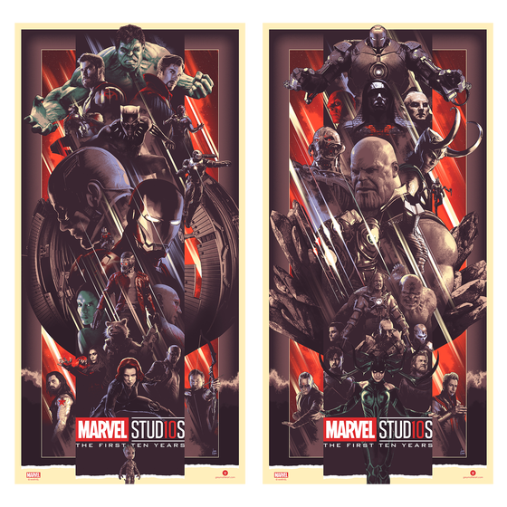 Image of Marvel Studios THE FIRST TEN YEARS Set