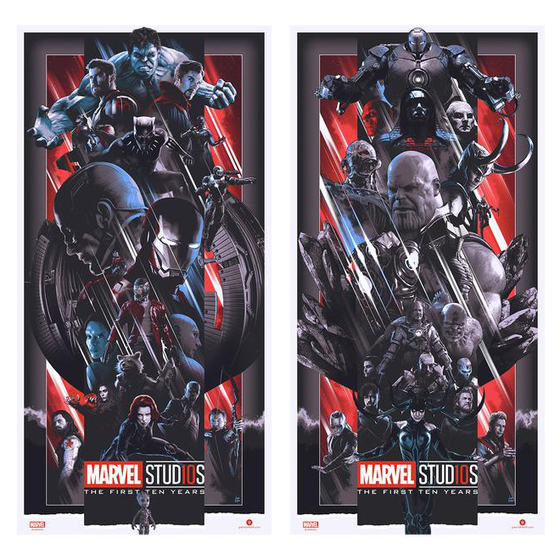Image of Marvel Studios THE FIRST TEN YEARS VARIANT Set