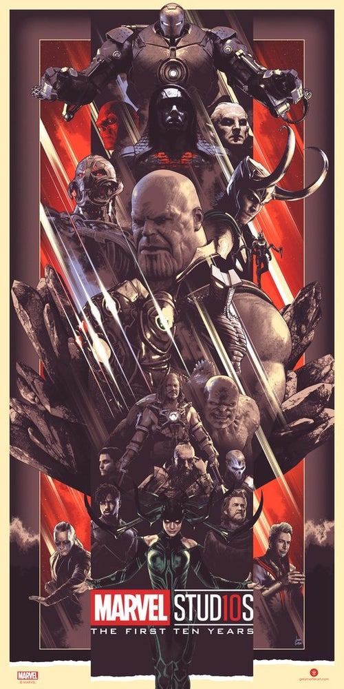 Image of MARVEL STUDIOS THE FIRST TEN YEARS VILLAINS POSTER AP