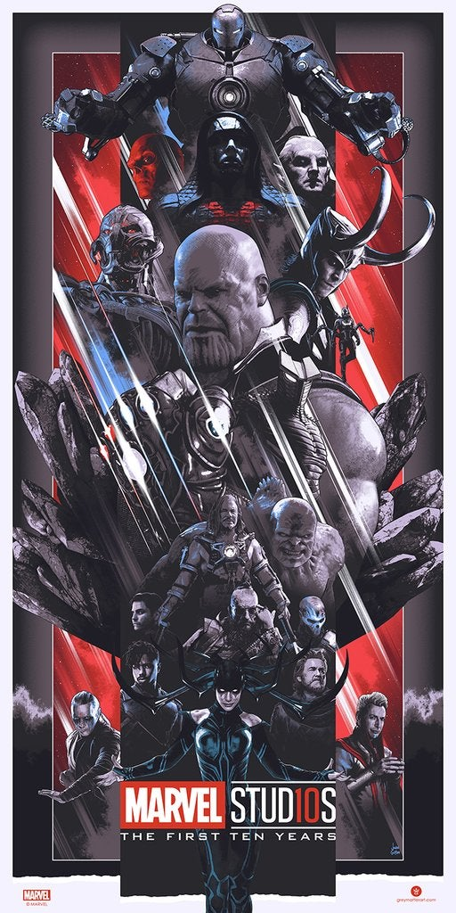 Image of MARVEL STUDIOS THE FIRST TEN YEARS VILLAINS POSTER VARIANT AP
