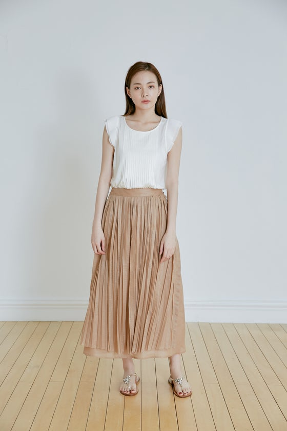 Image of HAND PLEATS SKIRT