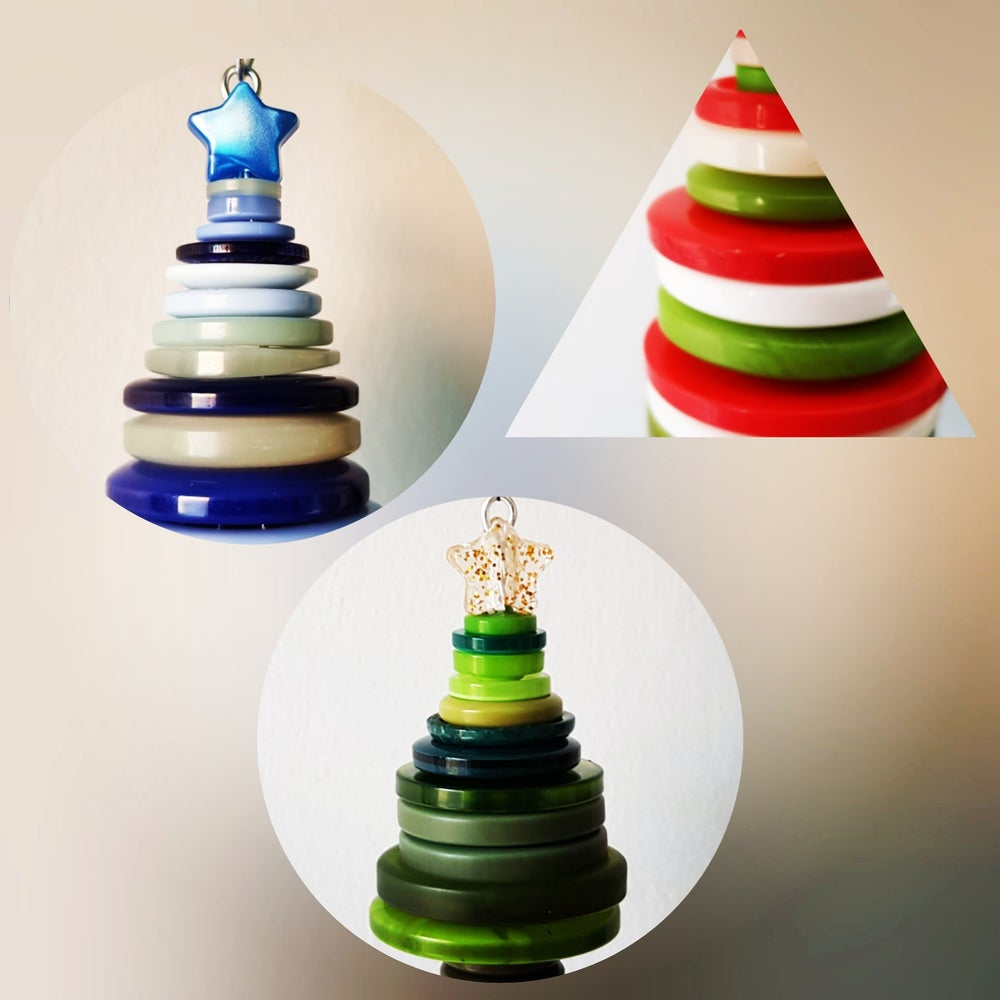 Image of Handmade button christmas trees