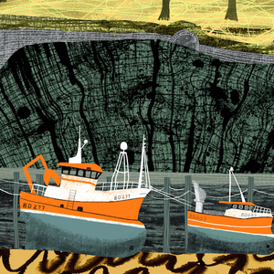 Image of 'Terrace and Trawlers' Ilfracombe