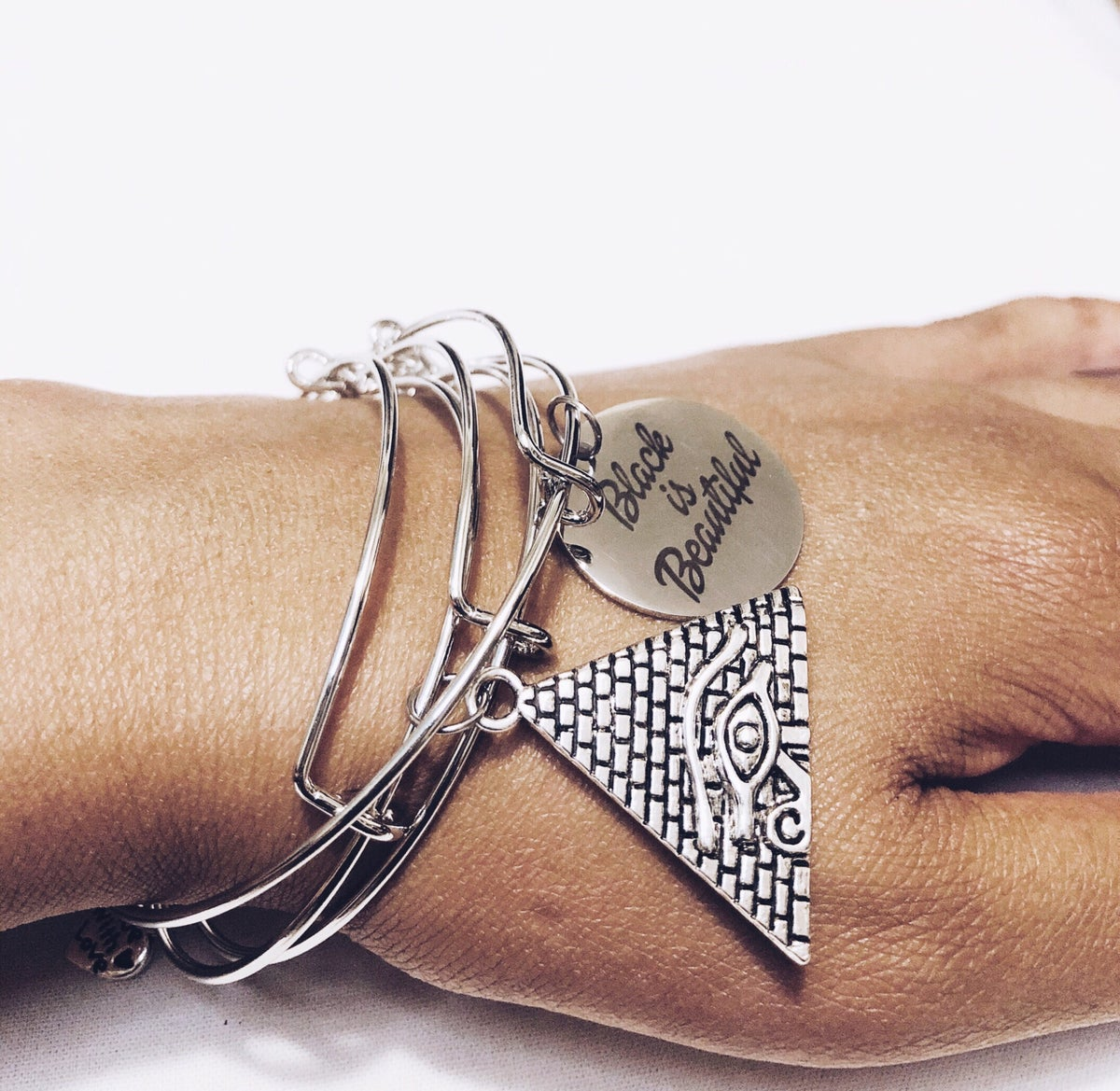 Image of Pyramid & Eye Bangle