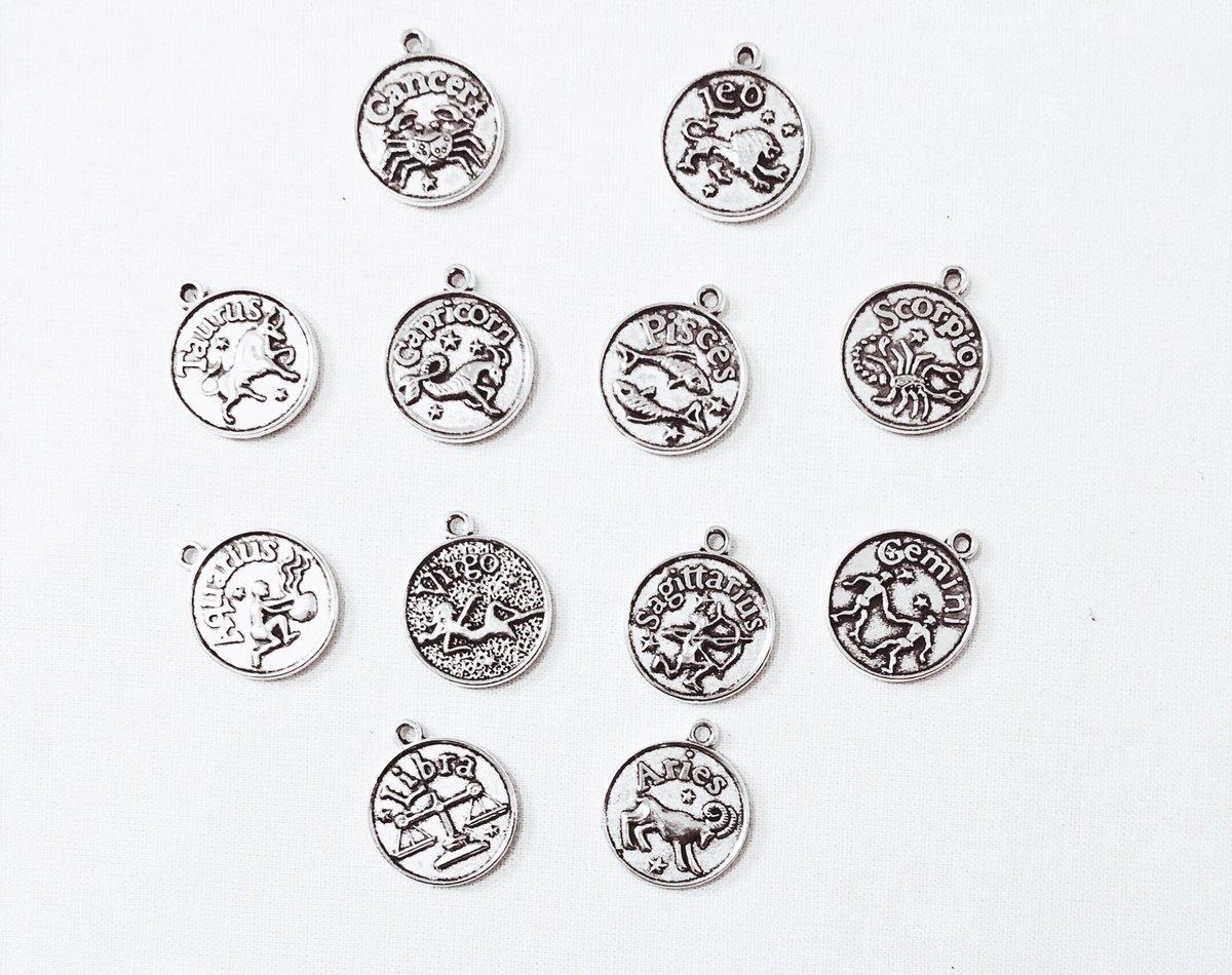 Image of Antiqued Zodiac Star Bangle
