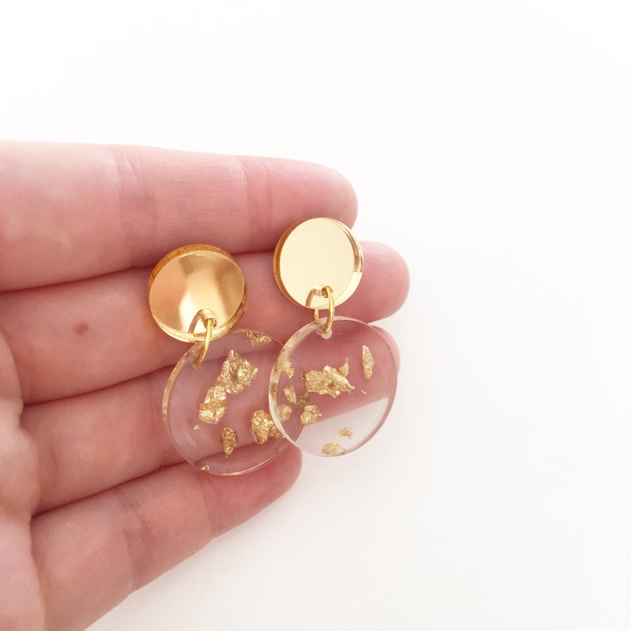 Image of Gold Leaf Dangles