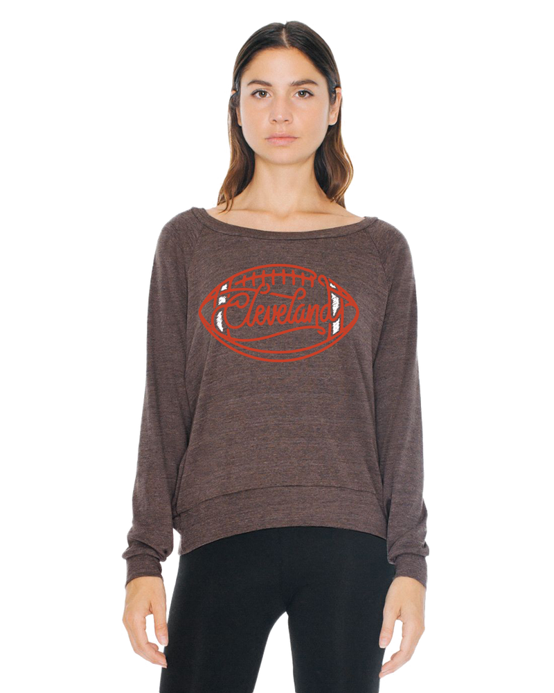 Image of Cleveland Browns Football Girls Light Sweatshirt
