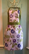Full Apron, Waverly Lilac and Green Flower