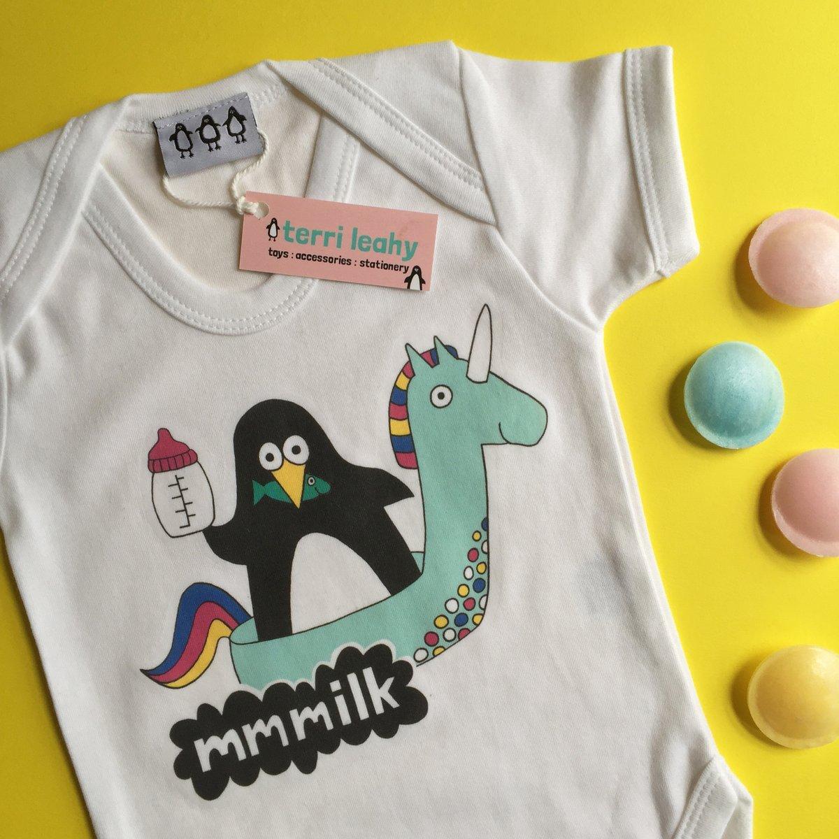 Image of Mmmmilk! Penguin Babygrow