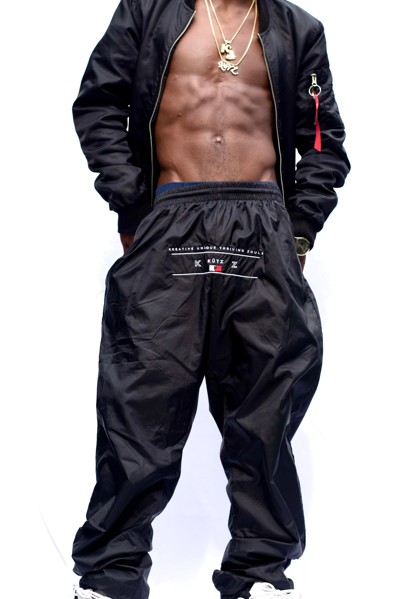 Image of Black K.Ü.T.Z WindBreaker Pants