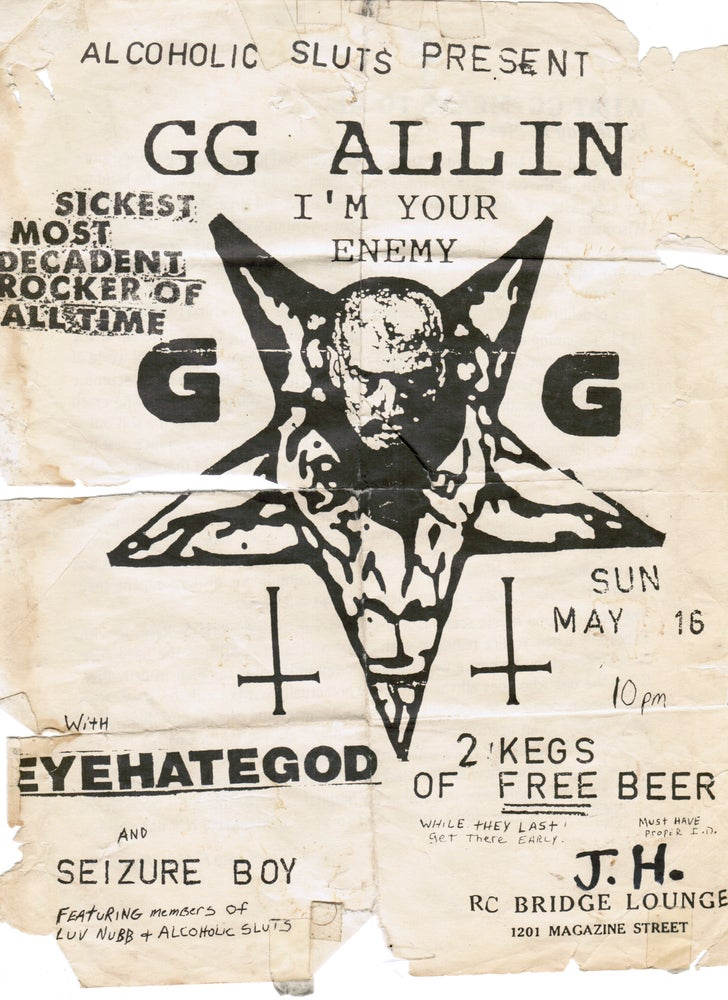 Image of GG ALLIN NEW ORLEANS SHIRT