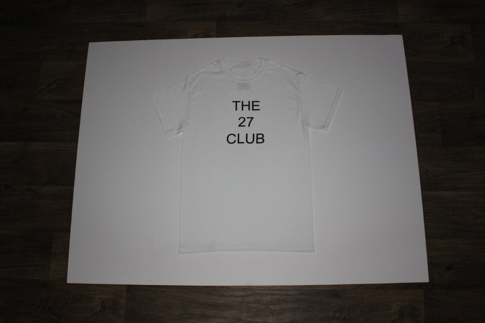 Image of The 27 Club Logo White Shirt