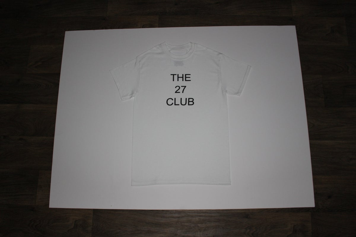Image of The 27 Club Logo White Shirt