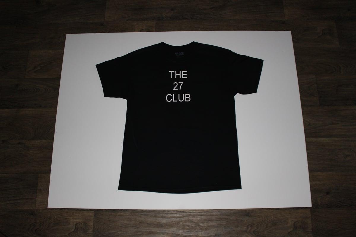 Image of The 27 Club Logo Black Shirt