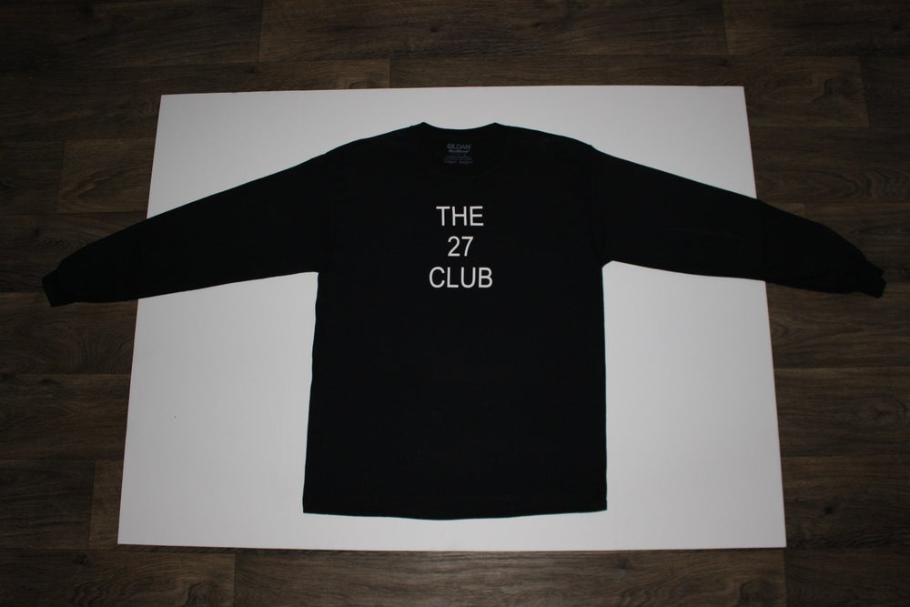 Image of The 27 Club Logo Black Long Sleeve Shirt