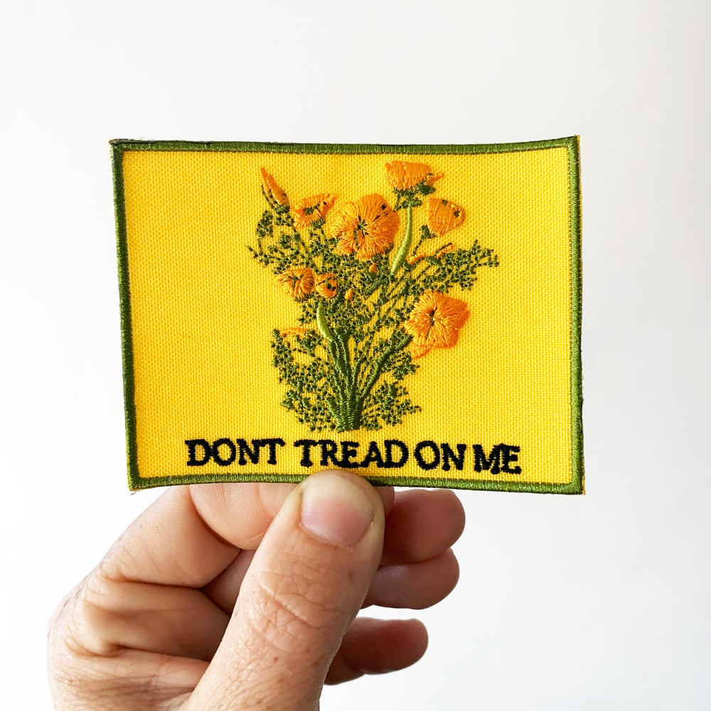 Image of DONT TREAD ON ME CALIFORNIA POPPIES - Patch
