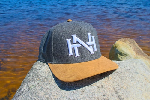Image of NH Monogram Cap- Heather Grey Flannel/Suede Brim