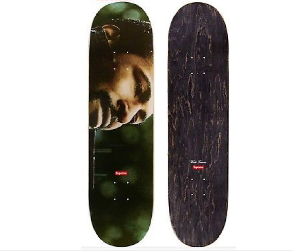 Image of Supreme x Marvin Gaye Skateboard Deck w/ 5 Supreme Stickers