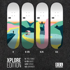 Image of OSL Skateboards. Kjerag, 8,25""