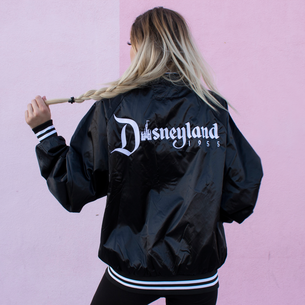 Image of 1955 Striped Bomber Jacket Black