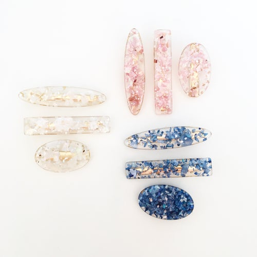 Image of Foil Fleck Statement Clips