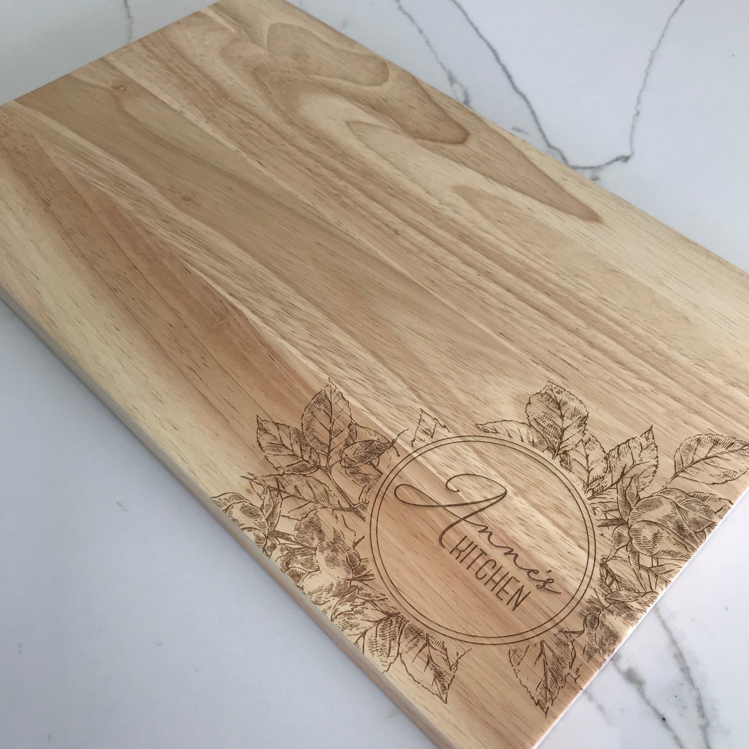 Image of Circular Floral Chopping Board