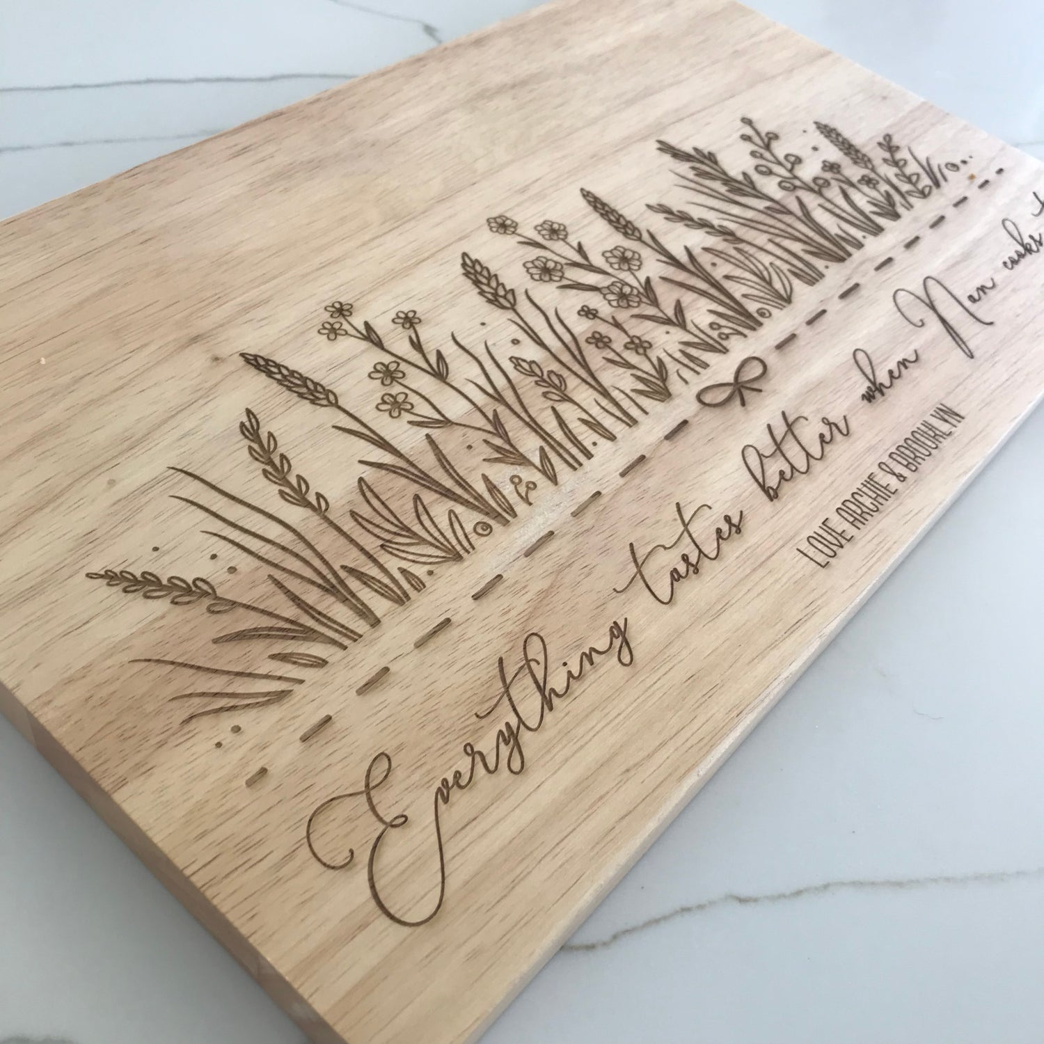 Image of Blooming Garden Chopping Board