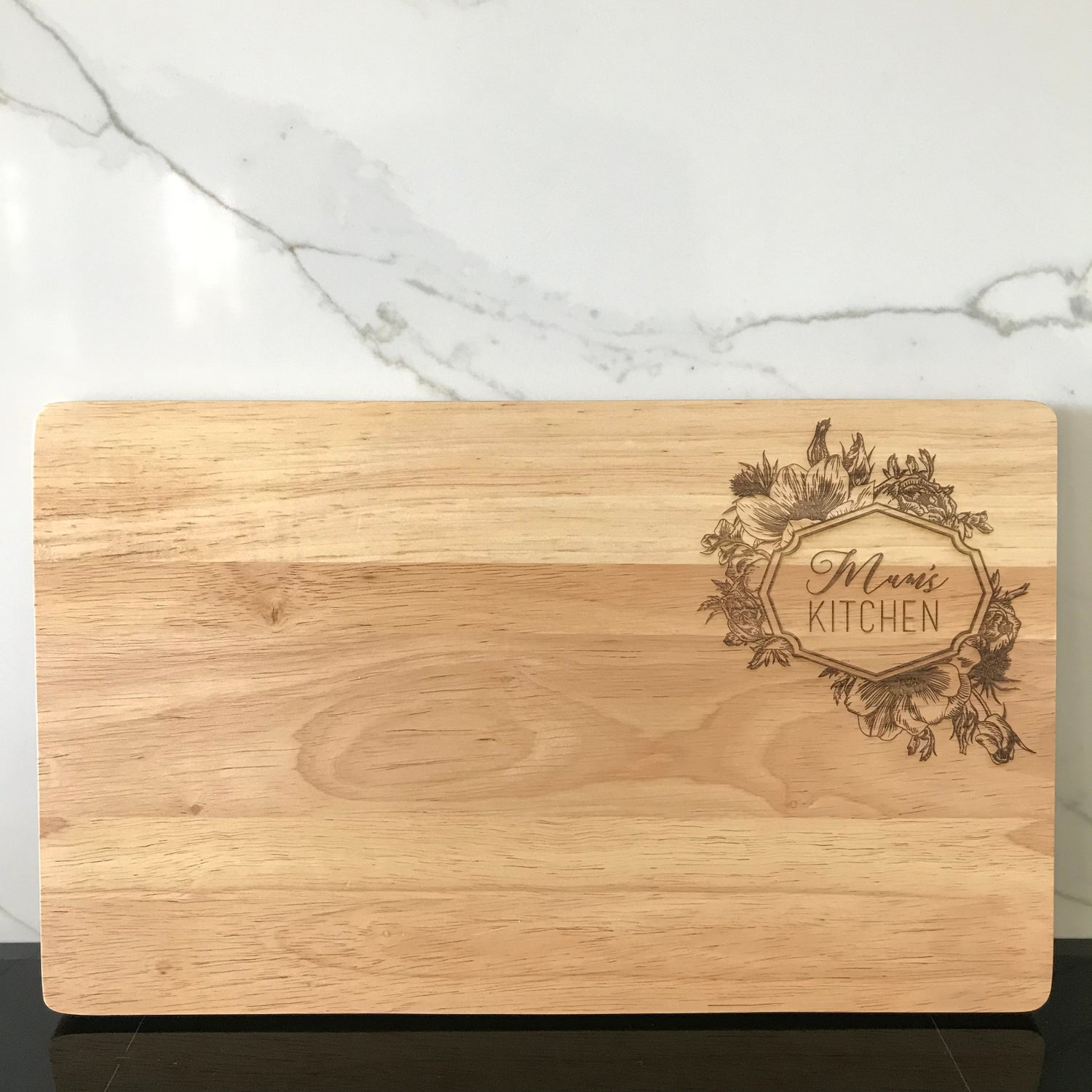 Image of Ornate Floral Chopping Board