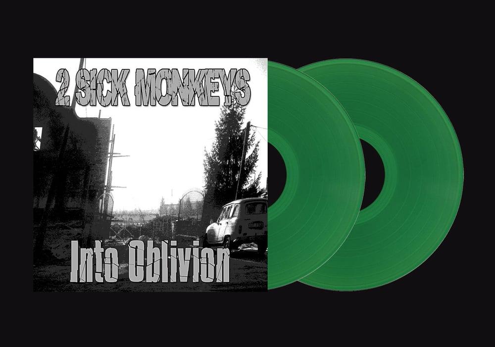 Image of INTO OBLIVION -  2 Sick Monkeys On double green Vinyl