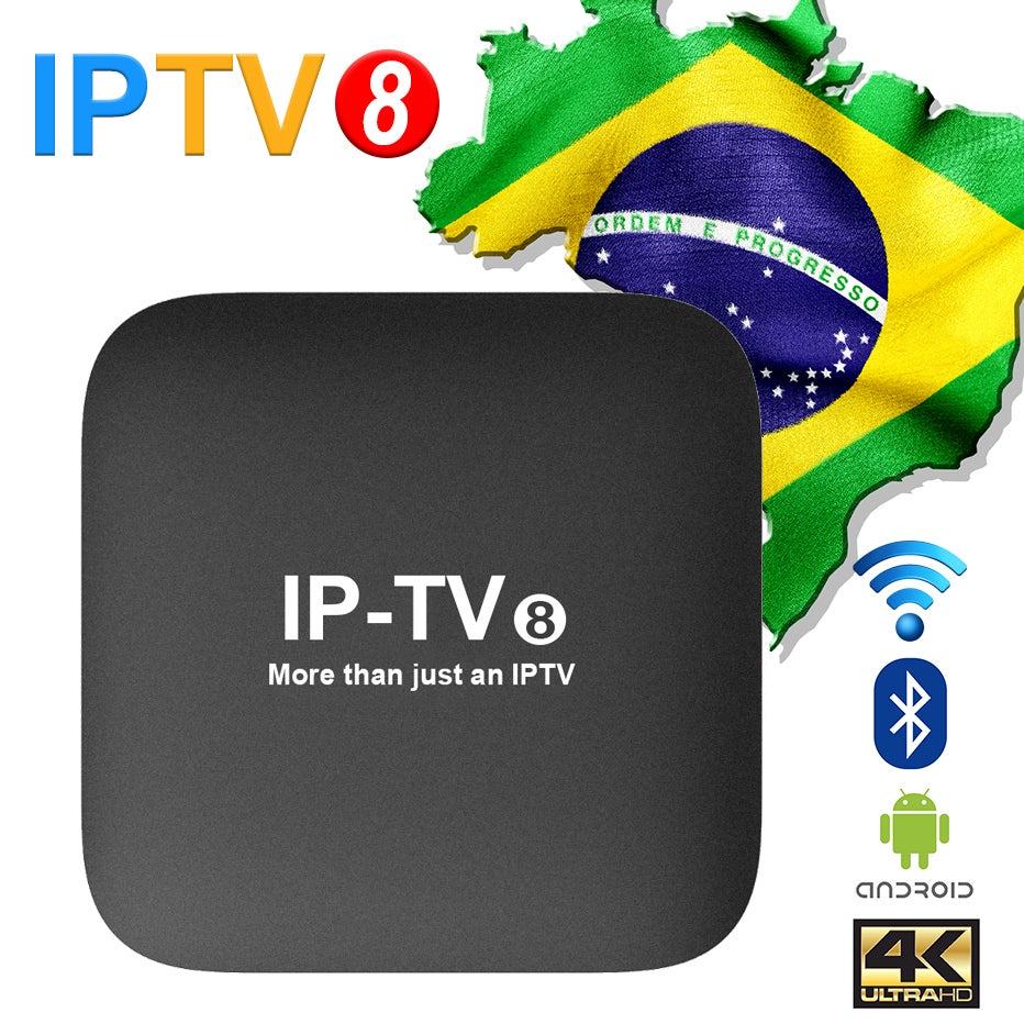 Image of 2019 New IPTV8 4K Brazilian Portuguese TV BOX IPTV 240+ Live TV/Cine/Playback