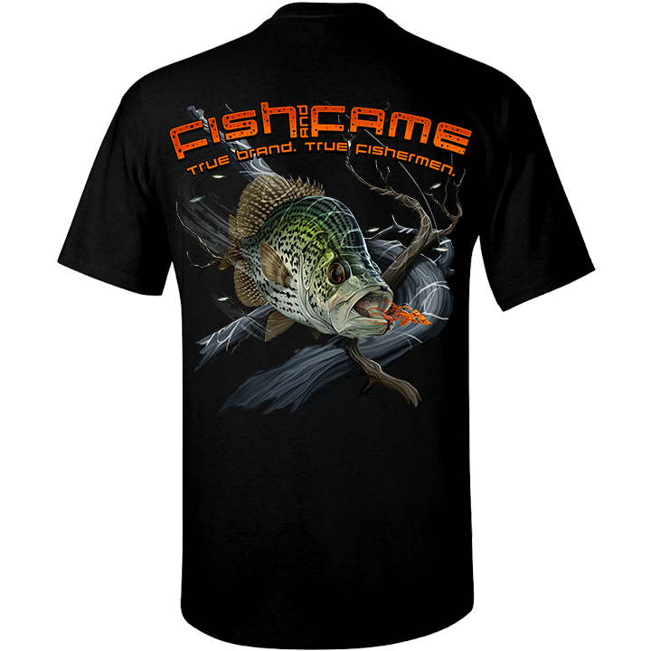 Image of Crappie Tee (black)