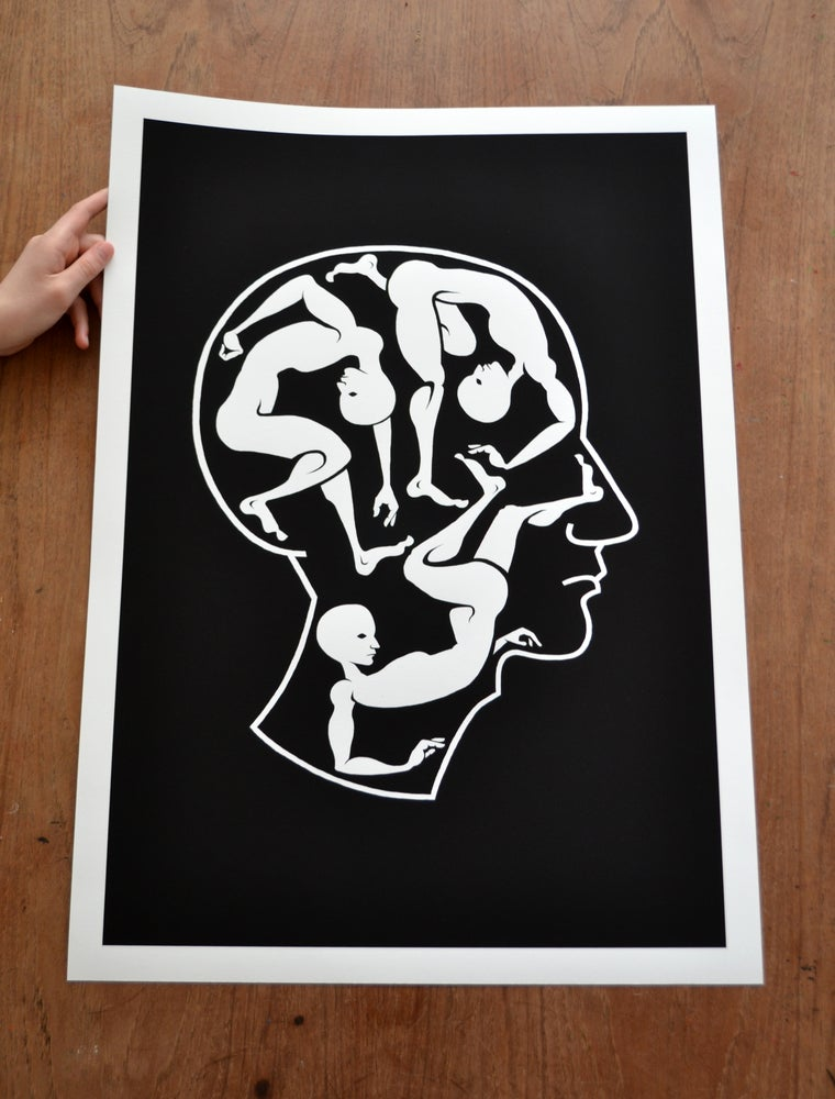 Image of Giclée Print: Headfull
