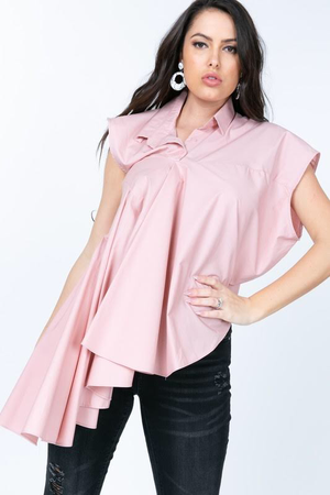 Image of Pink Pleated Flare