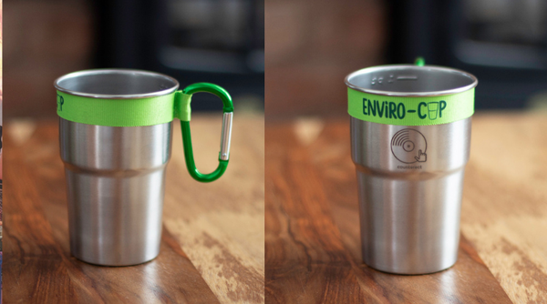 Image of Counteract Reusable Stainless Steel Cup with Custom Fit Carabiner Clip