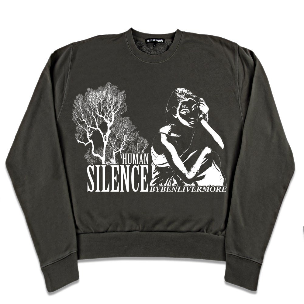 Image of Human Silence Sweatshirt (black)