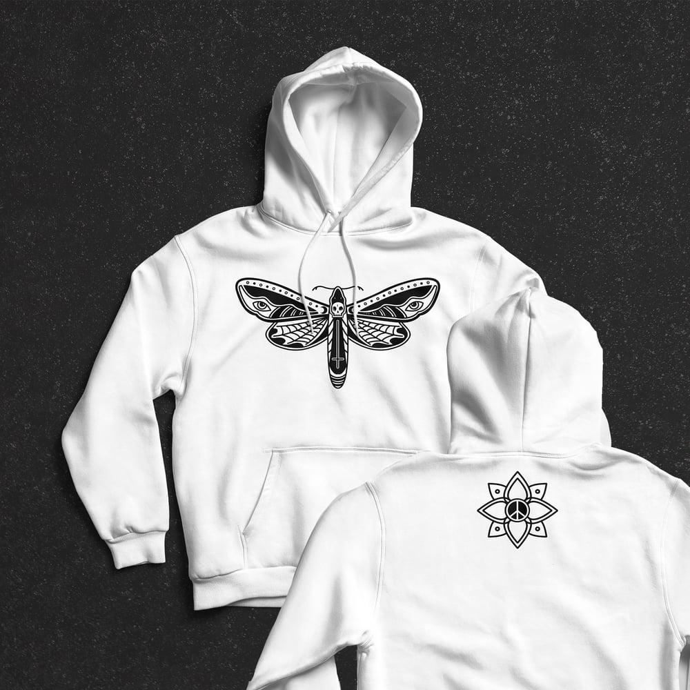 Image of Death Moth Pullover Hoodie