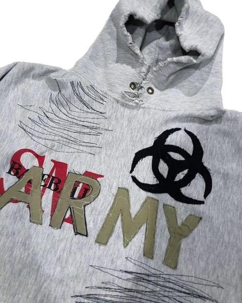 Image of ARMY DISTRESSED HOODIE