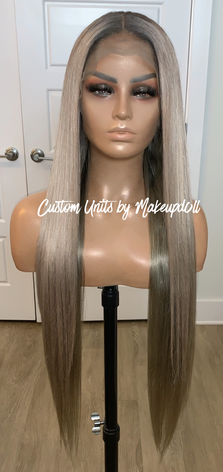"""Image of Ash Blonde 28"""" Lace Frontal Wig!"""