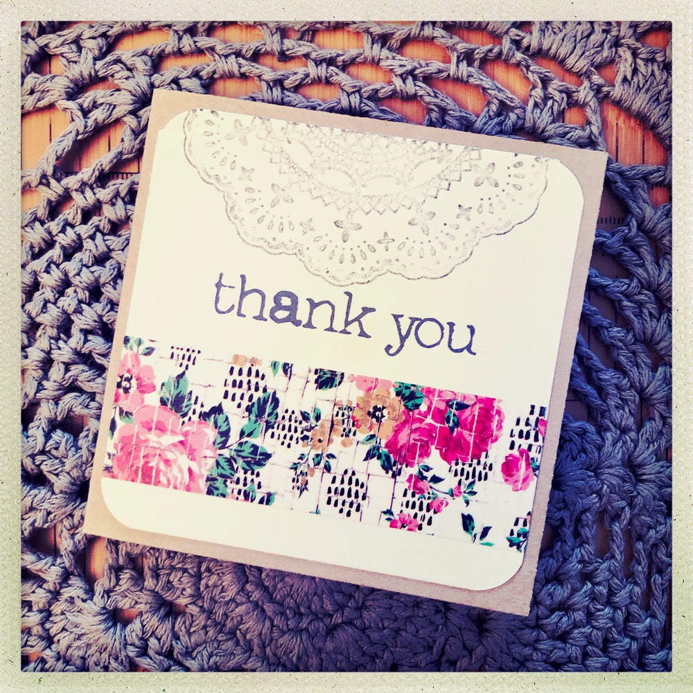 Image of thank you gift card