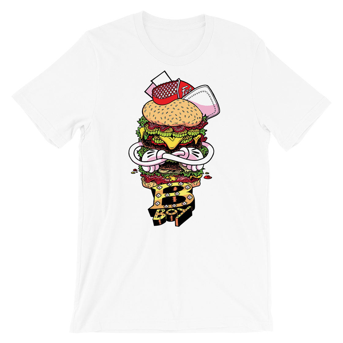 Image of Burger Boy Plain T-Shirt