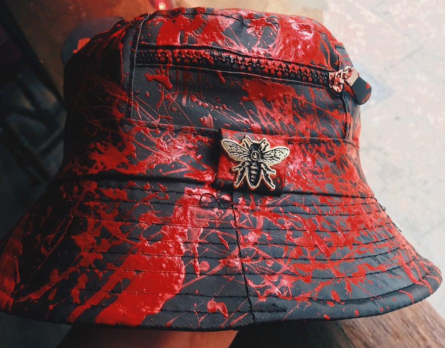 Image of Jimmy's Bucket Hat & Bee Pin