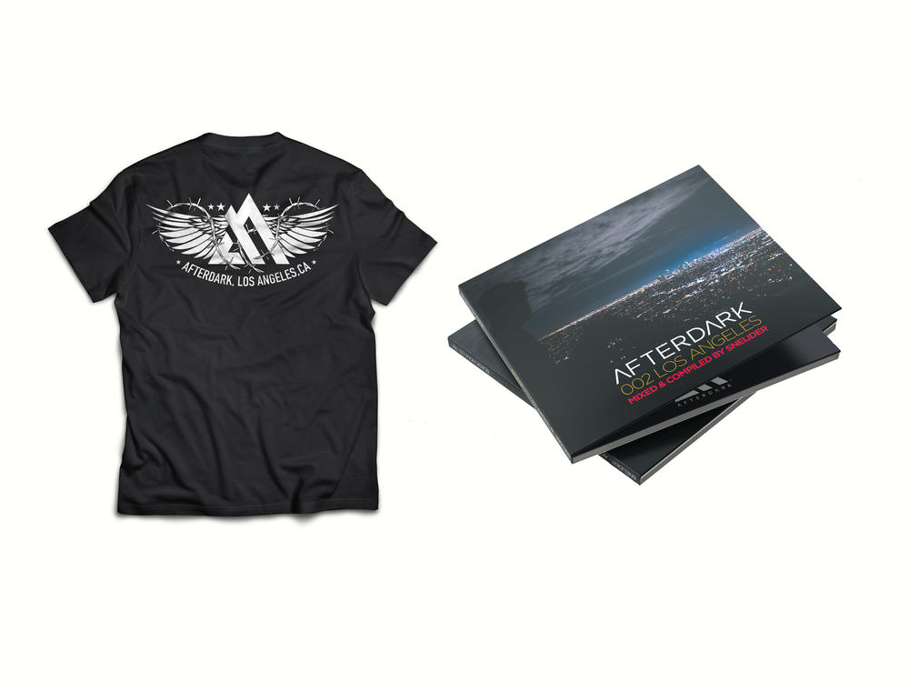 Image of AFTERDARK LOS ANGELES SHIRT & SIGNED 2xCD BUNDLE