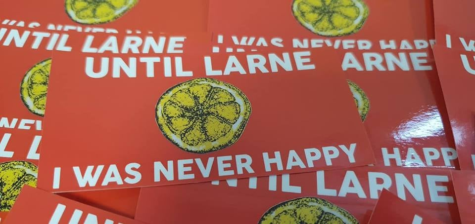 Image of Until Larne Football/Ultras/Casuals/Hooligans 10x5cm Stickers Pack of 25