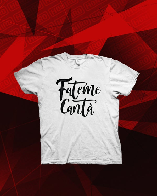 ULTIMO - FATEME CANTA' WHITE TSHIRT - HONIRO STORE