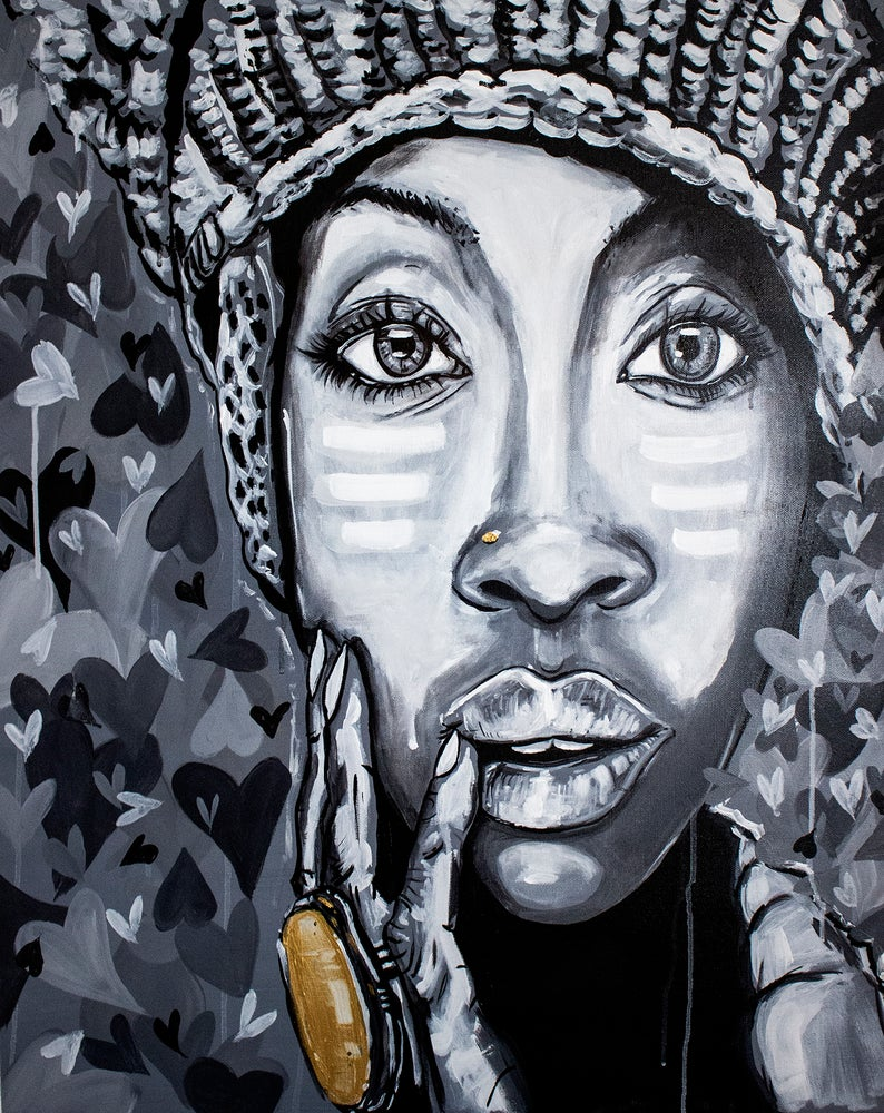 Image of Badu canvas print