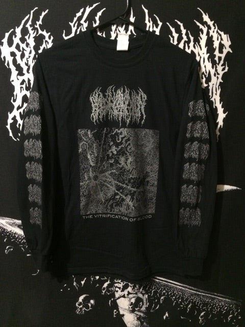 Image of Long Sleeve - 'The Vitrification of Blood' Silver Ink